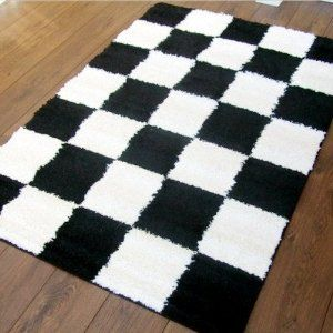 Black and white checker perfect for a little ska baby for Checkered carpet black and white
