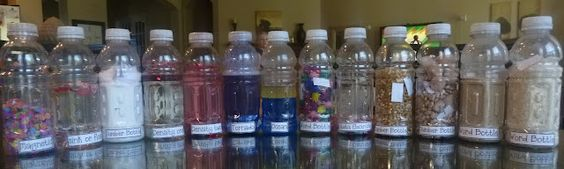 Science concept bottles to allow kids to learn through exploration about density, static electricity, magnets, sink/ float, and more. Wonderful resources!