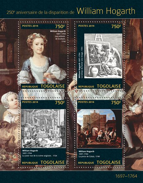 """TG 14304 aWilliam Hogarth  (""""Tha Graham Children"""" 1742, """"Time Smoking a Picture"""" 1761, """"A Just View of the British Stage"""" 1724, """"The Gate of Calais"""" 1749)"""