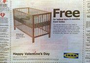 IKEA dá berço para bebês que nascerem em nove meses