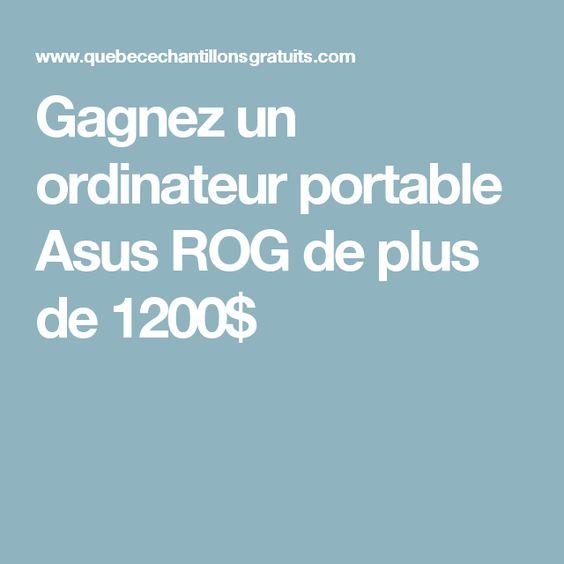 Gagnez un ordinateur portable Asus ROG de plus de 1200$