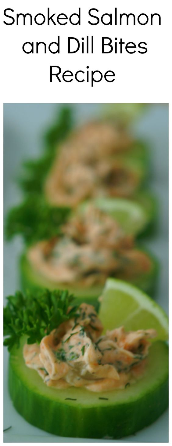 Smoked Salmon and Dill Bites - Smoked salmon, capers and cream cheese ...