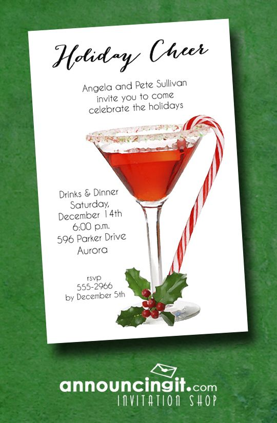 Mod Christmas Trees on Red Holiday Party Invitations are perfect for - holiday party invitation