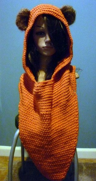 Wicket Ewok Hooded Cowl Crochet Nerdy Hats/Accessories ...