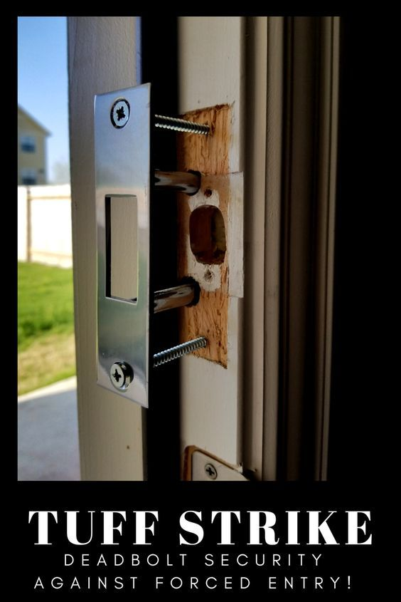Door Reinforcement For Upgraded Home Security The Two Post Strike Plate Reinforces The Deadbolt Lock Pr Home Security Best Home Security Home Security Systems