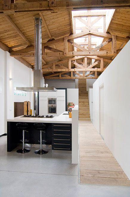 Afzuigkap hoog plafond keuken pinterest natuurlijk ruimtes en gangen - Hoog plafond ...
