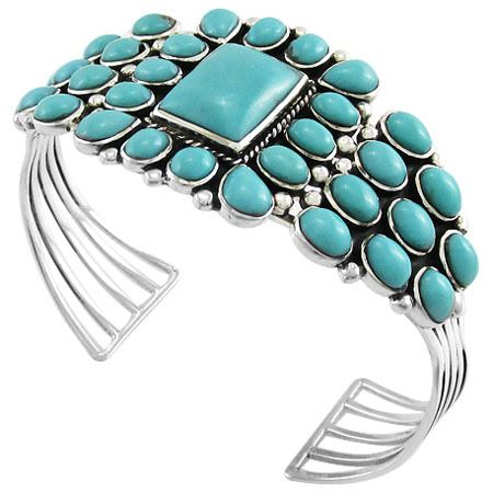 Sterling Silver Bracelet Turquoise B5176-C75