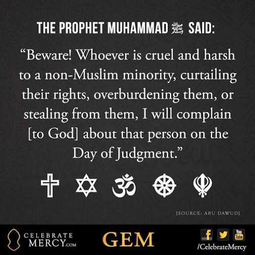 Muhammad's treatment of non  muslims ... (Source: Abu dawood)