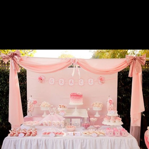 this is exactly how my baby shower setup should look if i have a boy
