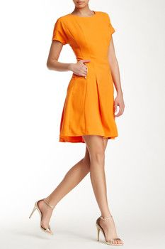 Sharagano Short Sleeve Zip Pocket Dress