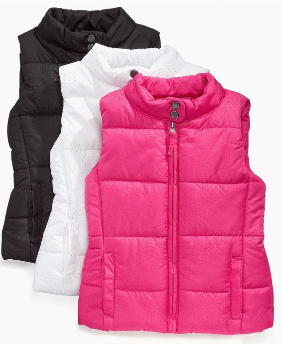 Vests for little girls