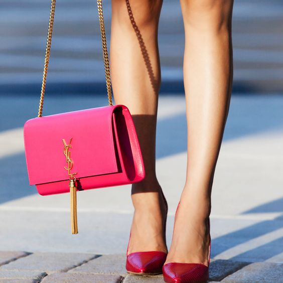 2012 cheap yves saint laurent y clutch in fushia leather