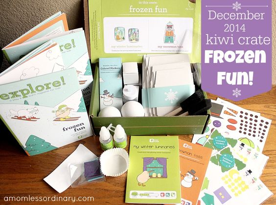 Kiwi Crateis a great monthly subscription service of craft projects for kids - each crate contains at least two projects - and other learning activities.We loved this month's ! Check out our December 2014 Kiwi Crate Frozen Fun review, plus get a coupon for $10 off your first crate! @kiwicrate #kiwicrate