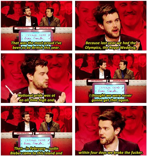 Jack Whitehall's reasons why he was proud.