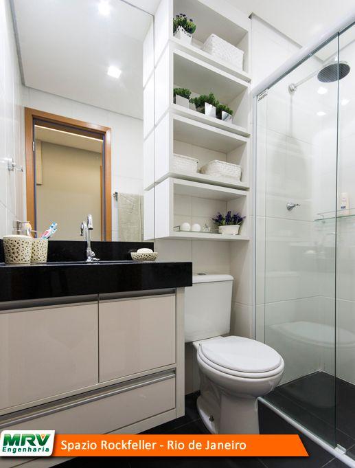 Banheiro decorado mrv