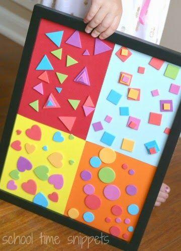 Shape Sort. Use flannel panels & Velcro dots on back of foam shapes.