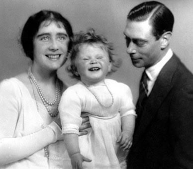Delightful photo of the Queen Mother, Princess Elizabeth and the King.: