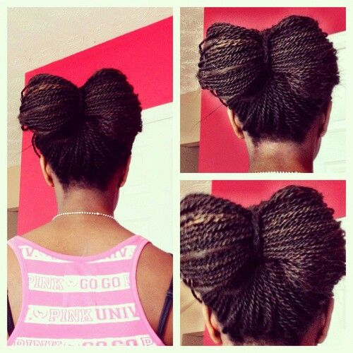 Senegalese twists hair bow | Fly Hair Don't Care ...