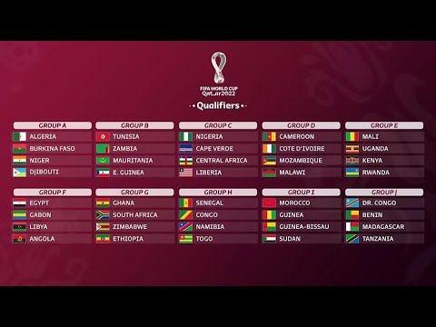 تعرف على قرعة تصفيات أفريقيا لمونديال 2022 Tunisia Mozambique Zambia