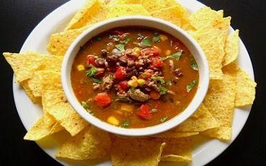 Bean Fiesta Soup | Vitamix Recipes | Yummy! | Pinterest | Pinto Beans ...