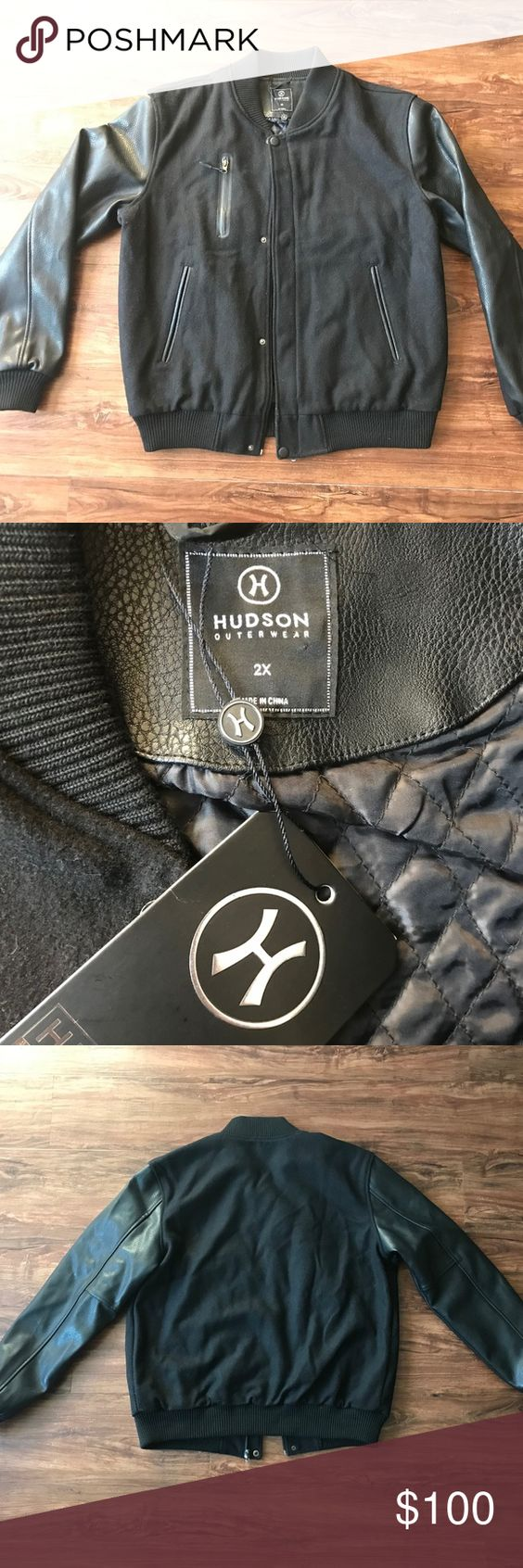 Hudson Outerwear Black Lettermen Jacket Size Xxl Black Letterman Jacket Letterman Jacket Jackets [ 1692 x 564 Pixel ]