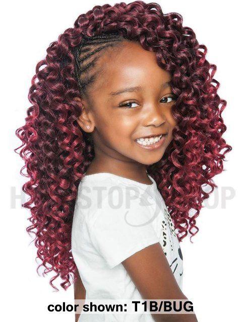 Mane Concept Afri Naptural Kids Sassy Curl Crochet Braid Kc04 In