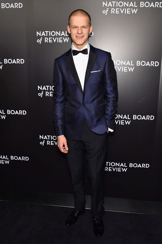 Actor Lucas Hedges wearing Burberry tailoring to the NBR Gala in New York, where he received the Male Breakthrough Performance Award for Manchester By The Sea