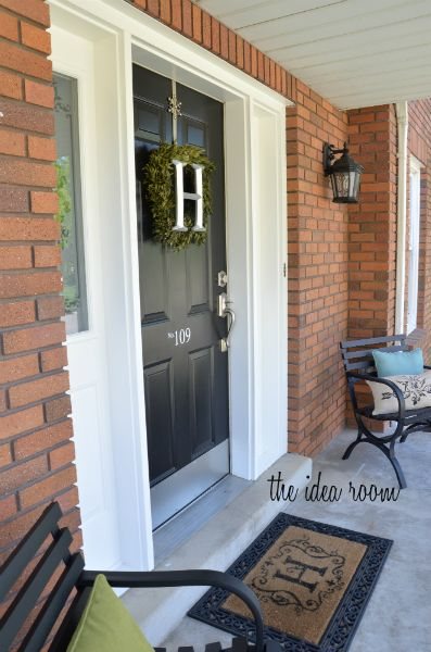 Tips and Detailed Tutorial for How to Paint your Front Door via Amy Huntley (The Idea Room): The Doors, Paint Front Doors, Front Door Wreaths, Black Doors, Black Front Doors, Painting Doors, Wreath Idea
