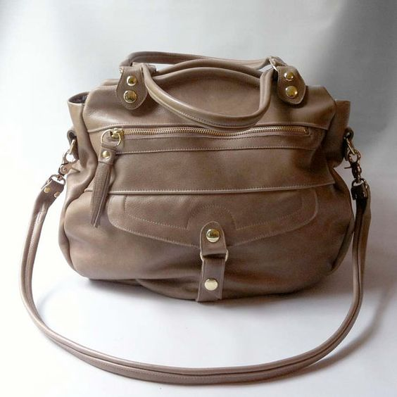 4 pocket Oaxaca bag in taupe by valhallabrooklyn on Etsy, $319.00