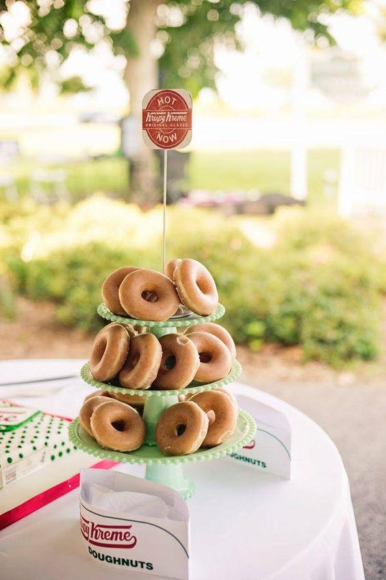 Krispy Kreme grooms cake