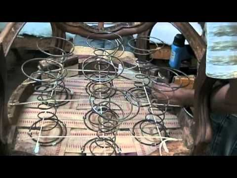 Great Upholstery Tutorial How To Tie Springs And Fix Antique Furniture