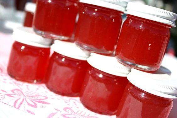 Confiture cotillons, 100 pots de 1,5 oz de Little Bit of Heaven de faveurs de mariage de confiture aux fraises ananas, faveur de confiture maison