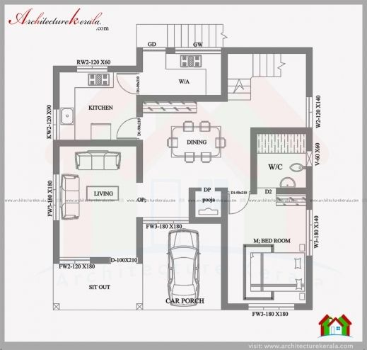 Best Small Plot Villa In 2 75 Cents Of Land Kerala Home Design And Plan 4 Cent House Plans Drawin Kerala House Design House Construction Plan House Floor Plans House design for small plots