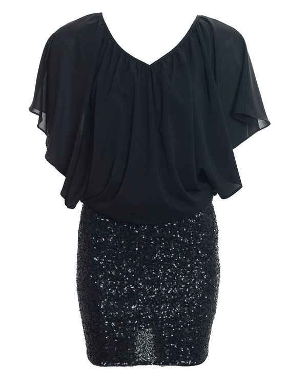 Adelphi Black/Black Sequin Tunic