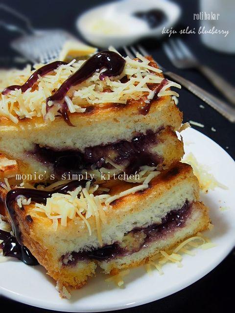 Roti Bakar Keju Blueberry Rotis Makanan Enak Makanan