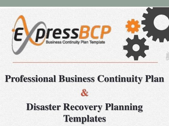 Express BCP  Business Continuity Plan Template Business - business contingency plan sample