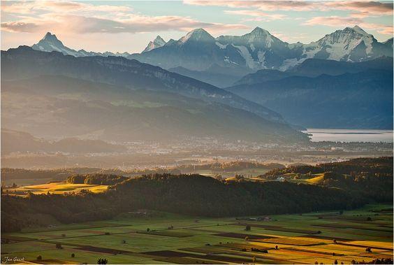 Thun and Bernese Alps, Switzerland...Wonderland by Jan Geerk on 500px