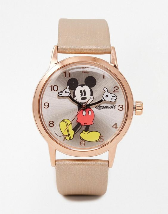 Disney Rose Gold Mickey Mouse Watch