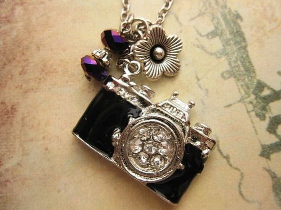 Take a Picture silver finish camera necklace by trinketsforkeeps, $9.00