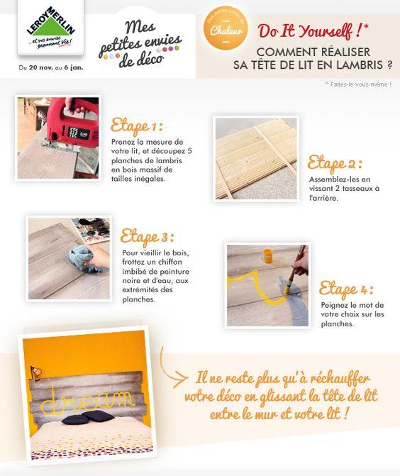 DIY  Réaliser sa tête de lit en lambris Envie de changer