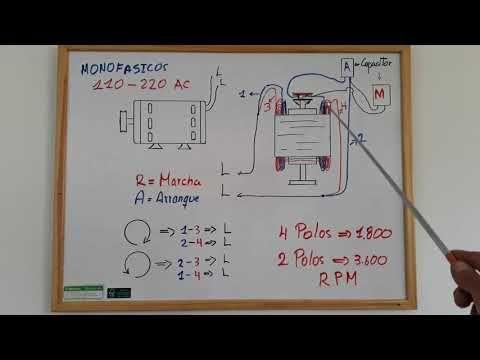 Como Conectar Capacitor De Arranque Y De Trabajo En Motor Eléctrico Youtube Motor Eléctrico Motores Arranque
