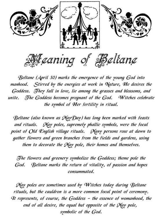 Meaning Of Beltane Witches Of The Craft