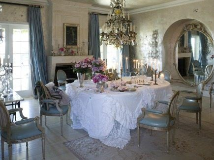 sharon and ozzy osbourne dining room from book rachel ashwell shabby chic inspiration and beautiful spaces beautiful shabby chic style