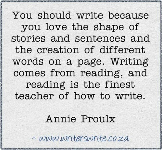 You should write because: