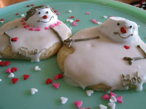 Melted Snowman Cookies.. so cute.