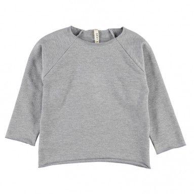 Stadtlandkind - Ribless Sweater Grey Melange  by Organic Brand Gray Label
