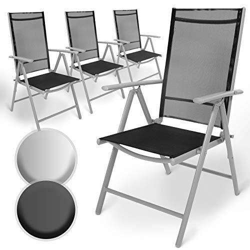 Lot De Aluminium Chaises De Jardin Pliante Avec Accoudoirs Dossier Haut Ajustable Sur 5 Positions Fauteuil I Chaise De Jardin Fauteuil Inclinable Accoudoir
