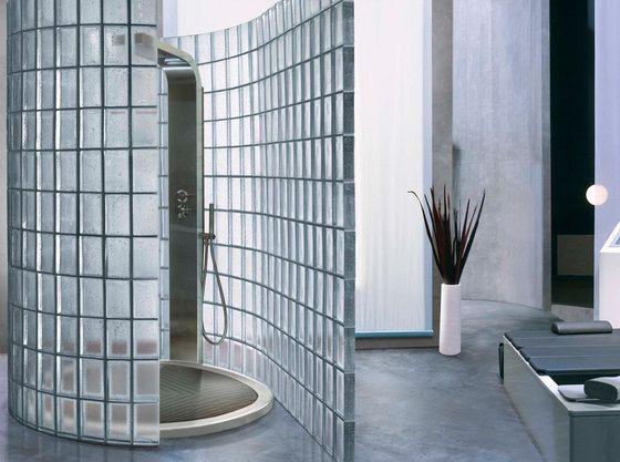 Duschabtrennungen-Dekoratives Glas-Duschwand-Poesia