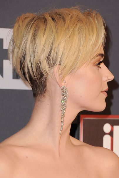 Katy Perry Short Hair: Blonde Pixie Crop | Glamour UK: