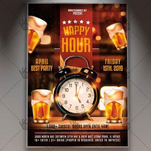 Download Best Happy Hour Flyer Psd Template Psdmarket Best Happy Hour Happy Hour Beer Happy Hour